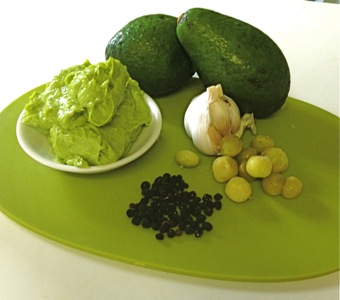 The Desert Limes work perfectly with the avocado, add pepper berry to complete the picture