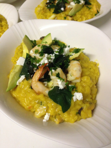 Try prawns or yabbies with this delicisou risotto with warragul greens and anise myrtle
