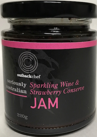 Sparkling Wine with Strawberry Jam, made in a country kitchen in Australia, a great jam for a romantic setting