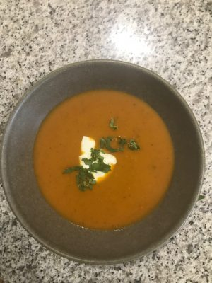 OutbackChef's spiced soup is a real winner, great foodty watching soup