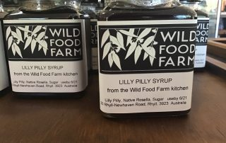 Lilli Pilli syrup made in the kitchen at the Wild Food Farm