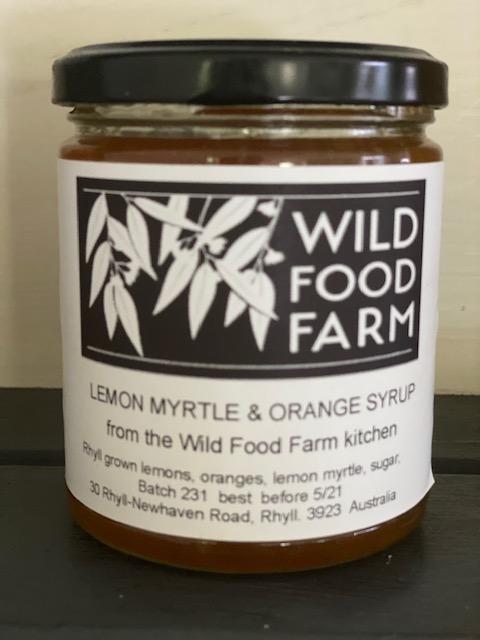 Lemon myrtle and orange syrup